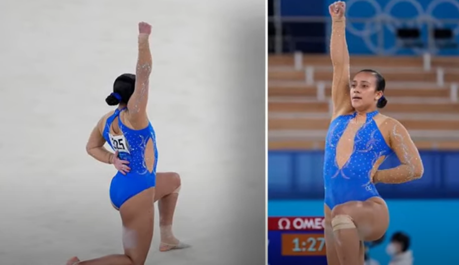 Costa Rican Gymnast Puts Up BLM Fist During Olympic Performance -Fails to Qualify