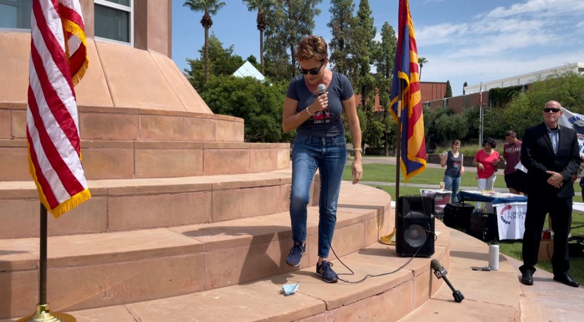 """AZ Gubernatorial Candidate Kari Lake Speaks At ASU Mask Protest: """"When I'm Governor I Will Pardon Every Patriot Who Stood Up Against This Tyranny"""""""