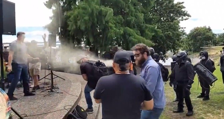 Antifa Terrorists Violently Attack Christian Families *With Young Children* Gathered to Pray on Portland Waterfront
