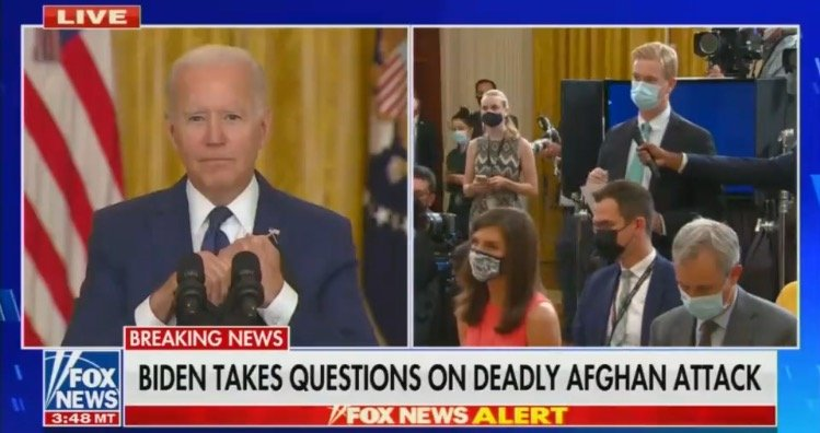 Biden Spars with Peter Doocy, BLAMES TRUMP When Asked if He Bears Responsibility for Death of 12 US Servicemen (VIDEO)