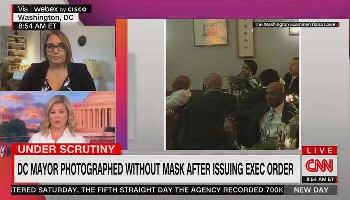 Pathetic CNN Makes Excuses for DC Mayor Violating Own Mask Mandate; Bashes Conservative Critics