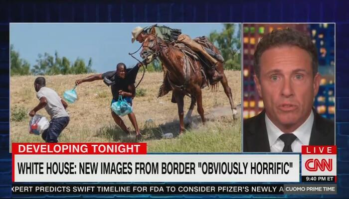 CNN's Cuomo Suggests Mounted BP Agent Belongs Back During Slavery