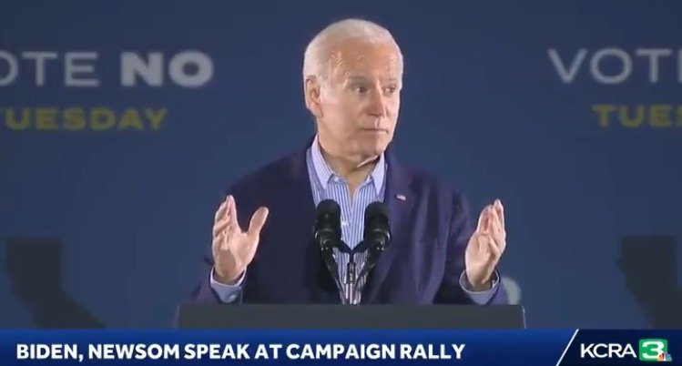 """Biden in SoCal: """"You Either Keep Newsom as Your Governor or You'll Get Donald Trump"""