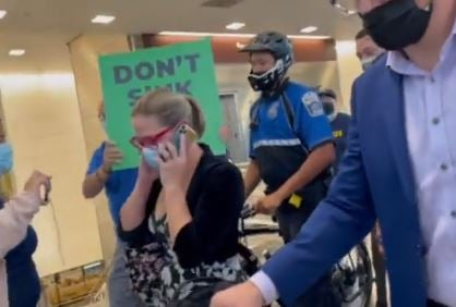 WOW! DACA Recipient Harasses Democrat Kyrsten Sinema on her Plane- Pushes Amnesty… Then Vile Leftists Stalk and Harass Sinema at Reagan International as She Arrives Back in DC