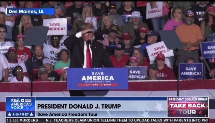 """President Trump Rips Biden in Iowa: """"First of All He Didn't Get Elected"""